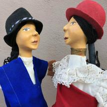 otavalo traditional dress on puppets handmade