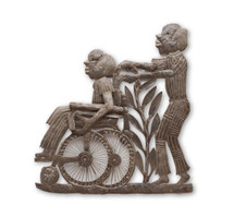 Dad, Father, Elderly, Wheelchair, One-of-a-Kind, Limited Edition, Unique, Sustainable, Eco-Friendly, Handcrafted, Handmade, Recycle, Recyclable, Steel, Metal, Fair Trade, Help Haiti, Fight Poverty