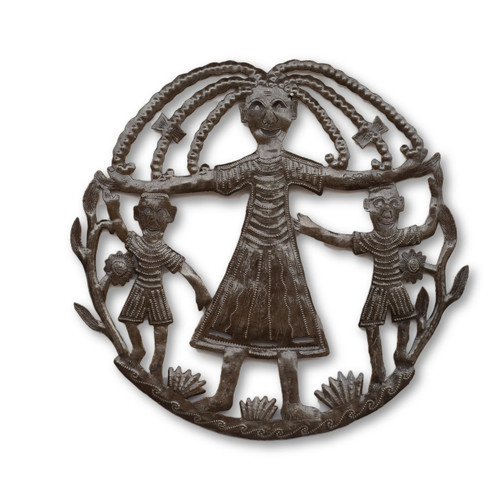 Haitian Children, Metal, Steel, Art, One-of-a-Kind, Handcrafted, Handmade, Limited Edition, Art, Sculpture, Recycle, Recyclable, Sustainable, Eco-Friendly