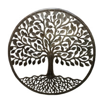 it's cactus - metal art haiti Large Family Tree, Wall Plaque, Indoor or Outdoor, Decorative Home Artwork, Handmade from Recycled Steel Barrels, 33.5""