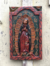 Religious wall art, Virgin Mary, Virgen De Guadalupe