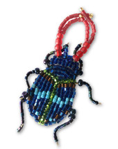 "Beaded Bug, Beetle Collection, with pin Attached, Handmade in Guatemala 1"" x 2.5"""