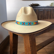 HATBANDS, COWBOY HATS, BEADED, HANDMADE, GUATEMALA 5