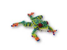 Frog, Beaded, with pin attached, Handmade in Guatemala, Jewelry accessory, 2.5""
