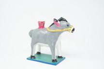 Donkey, Candle Holder, Colorful, Fun, Whimsical, Vintage, Folk