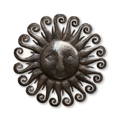 Sun, Spiral, Curly, Summer, Spring, Fall, Winter, Sunny, Sky, Celestial, One-of-a-Kind, Limited Edition, Sustainable, Eco-Friendly, Handcrafted, Handmade, Fair Trade, Haiti