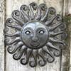 Sun farmhouse decor, haitian metal recycled steel wall art