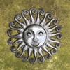 fair trade recycled metal sun art