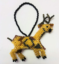 Christmas Ornaments, Beaded Ornamental Figurine, Assorted Styles, Gift Topper Christmas Tree Ornaments, Holiday Decoration, Stocking Handmade in Guatemala (Reindeer)