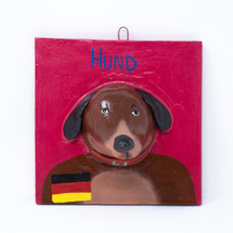 German, Germany, One-of-a-Kind, Limited Edition, Dog, Perro, Plaque, Flag, German Flag, Sustainable, Eco-Friendly, Hand Painted, Handmade, Handcrafted