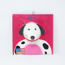 USA, United States of America, One-of-a-Kind, Limited Edition, Sustainable, Eco-Friendly, Merica, Dog, Perro, Handcrafted, Handmade, Hand Painted, Plaque, Dog, Perro,