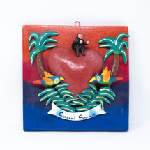 Corazon Salvaje, Savage Heart, Tropical, Palm Trees, Island, One-of-a-Kind, Limited Edition, Sustainable,
