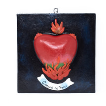 Corazon de Fuego, Fire Heart, Heart on Fire, Its Cactus, Milagro Heart, One-of-a-Kind, Limited Edition, Eco-Friendly, Handcrafted, Handmade, Hand Painted, Sustainable, Mexico, Hecho en Mexico, Mexican Folk Art, Whimsical Art