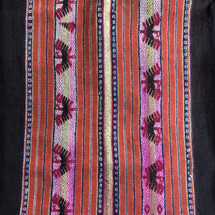 Llallagua Aguayo or  Manta Bolivia worn and repaired, Vintage Textile