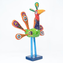 Peacock, Colorful, Whimsical, Folk Art, Unique, One-of-a-Kind