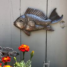Metal Fish made in Haiti Fair trade