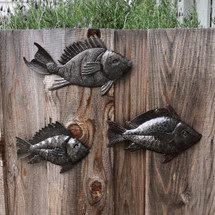 Haitian metal wall art sea life fish