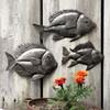 SET OF METAL FISH , SCHOOL OF SEA LIFE WALL ART