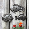 Bathroom nautical wall art, Fair trade recycled metal art