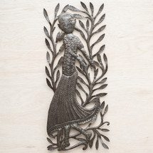 Haiti, Haitian Woman, One-of-a-Kind, Limited Edition, Sustainable, Eco-Friendly, Handcrafted, Handmade, Unique, Dancing, Dance, Fair Trade, Steel, Metal