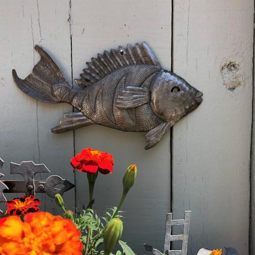 haiti metal wall art nautical fish theme