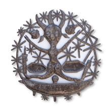 Traditional Haitian Voodoo Inspired Metal Sculpture / It's Cactus