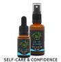 Up, Up & Away Flower Essence Kit, consisting of confidence-boosting Up, Up & Away flower remedy and flower essence spray