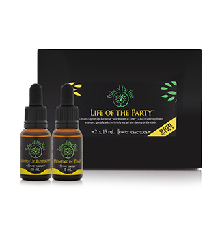 Life of the Party Flower Essence Kit to promote positivity, optimism and mindfulness