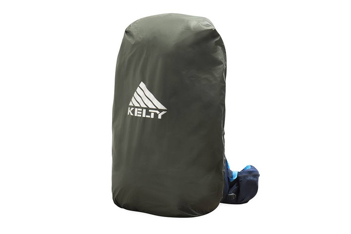 Kelty Rain Cover, dark gray, with large white Kelty logo