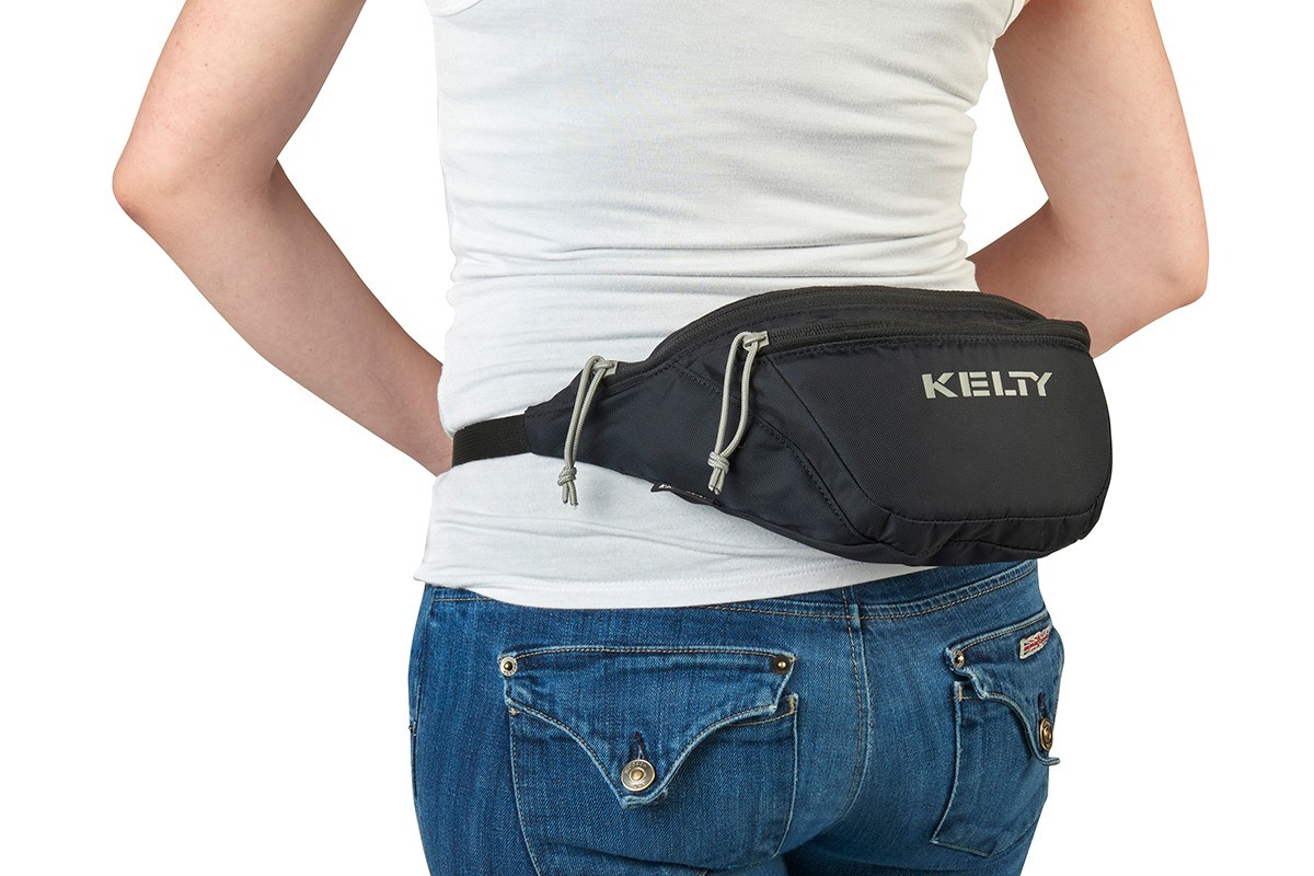 Woman wearing the Kelty Warbler waist pack