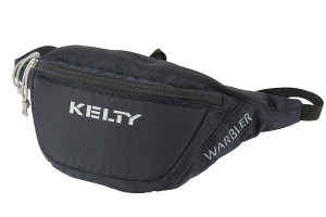Kelty Warbler waist pack, black, shown fully zipped