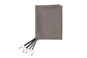 Kelty Como 4 Footprint, tan, with gray and black nylon attachment points