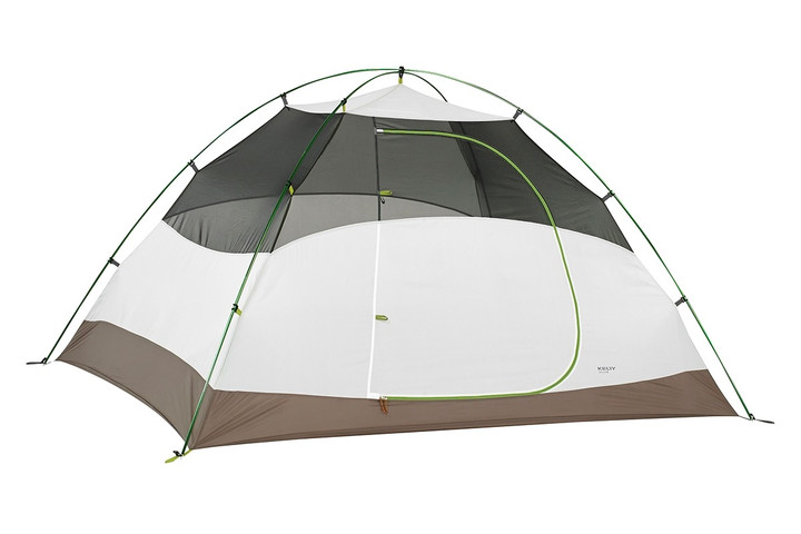 Kelty Salida 4 person tent, white/tan, shown with rain fly removed