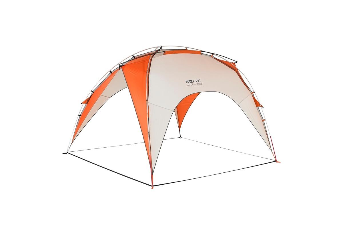 Kelty Shade Maker 2 sun shelter, orange/white, front view