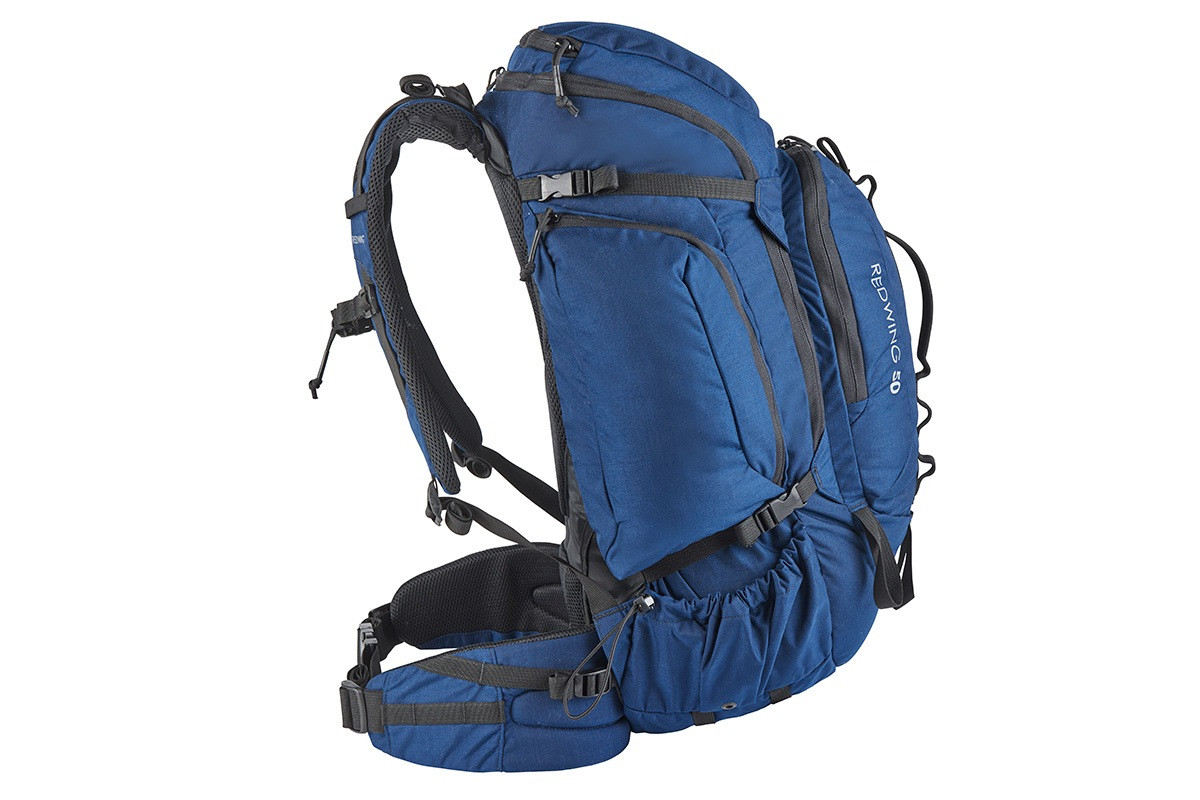 Kelty Redwing 50 USA backpack, Indigo Blue, side view