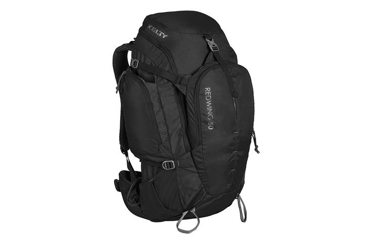 Kelty Redwing 50 backpack, black, front view