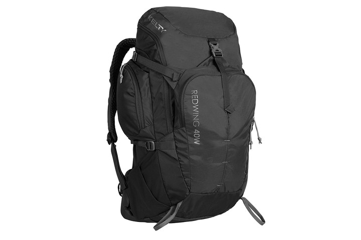 Kelty Women's Redwing 40 backpack, black, front view