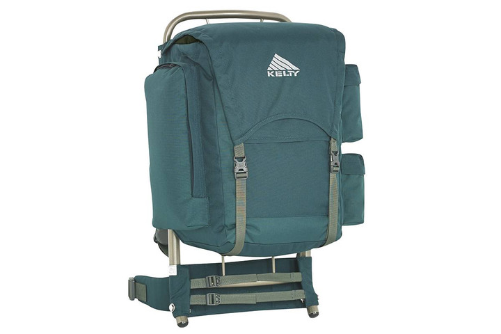 Kelty Sanitas 34 external frame backpack, green, front view