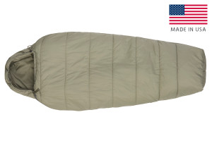 Kelty VariCom Gamma USA  sleeping bag, shown fully zipped