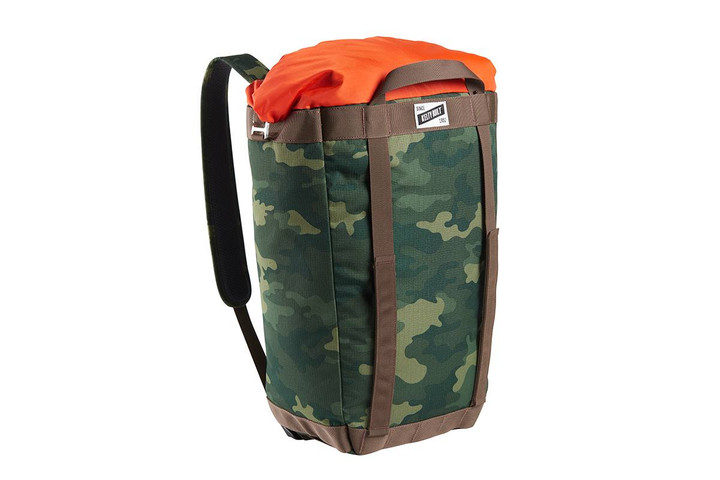 Kelty Hyphen Pack-Tote, Green Camo, front view, in backpack mode