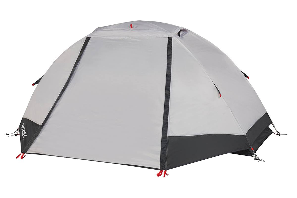 Kelty Gunnison 1 Tent, white, with rain fly attached and closed