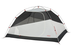 Kelty Gunnison 3 Tent, white, with rain fly removed and door closed