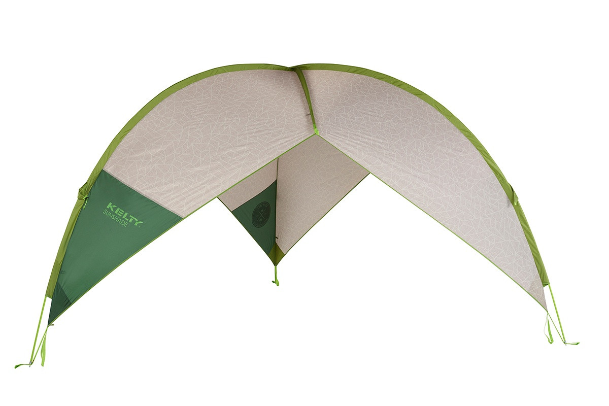 Kelty Sunshade With Side Wall, green, shown with side wall removed