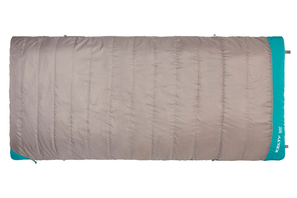 Kelty Women's Callisto 30 sleeping bag, taupe, shown fully zipped