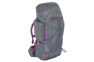 Kelty Women's Coyote 60 backpack, gray, front view