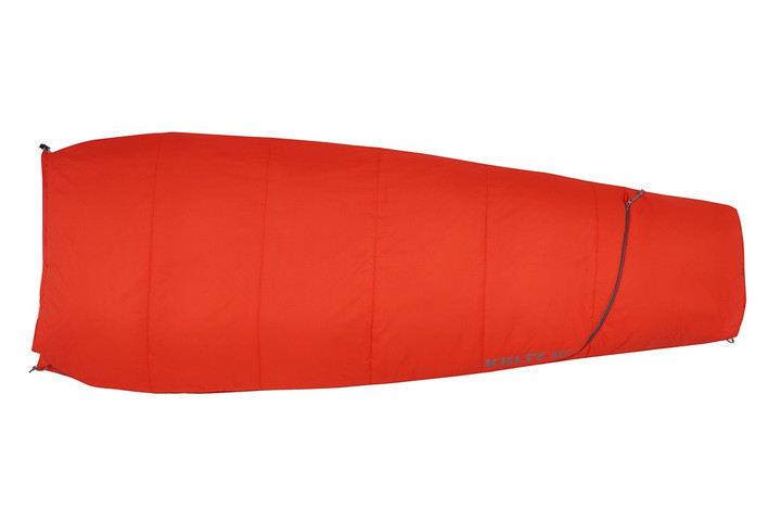 Kelty Rambler 50 sleeping bag, Fire Orange, shown fully closed