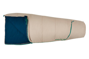 Kelty Rambler 50 sleeping bag, Sand, shown fully closed