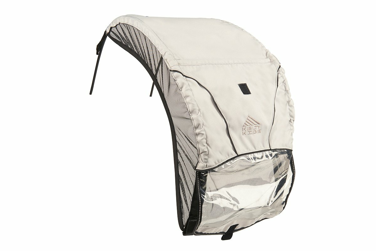 Kelty FC Sun Hood, rear view, showing clear plastic flap covering mesh panel
