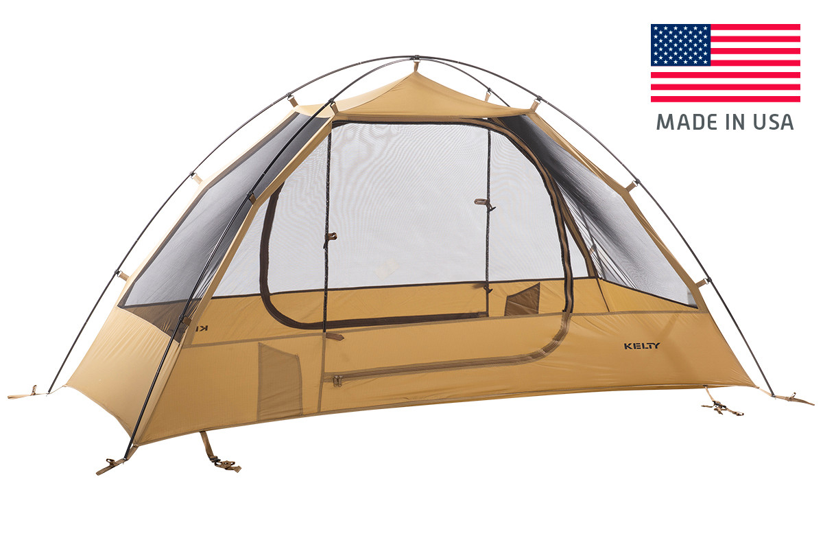 Kelty 1 Man Field Tent Coyote Brown with fly removed