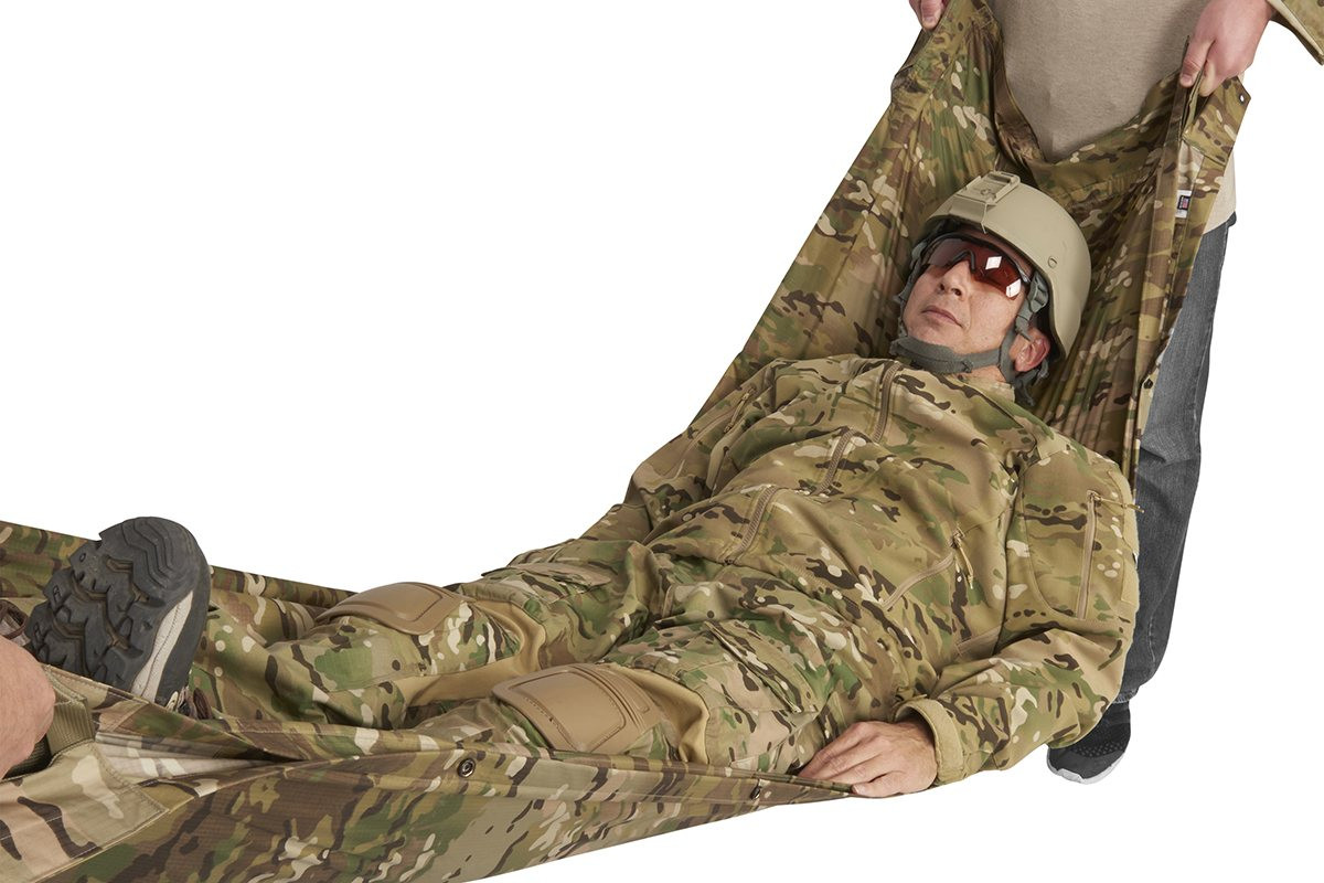 Kelty Field Craft Poncho FR in litter/stretcher mode
